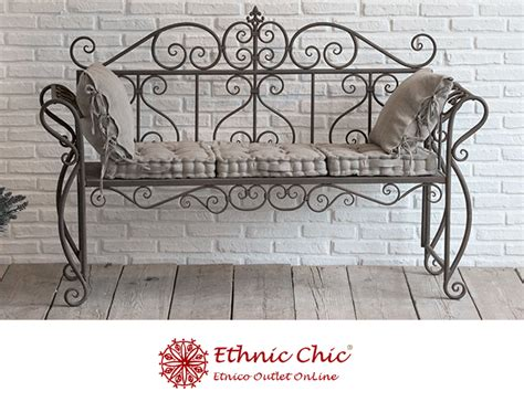divanetti in ferro battuto divanetto ferro marrone scuro etnico outlet mobili etnici
