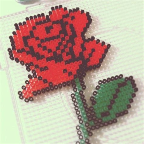 a bead of roses 19 best images about flowers on perler