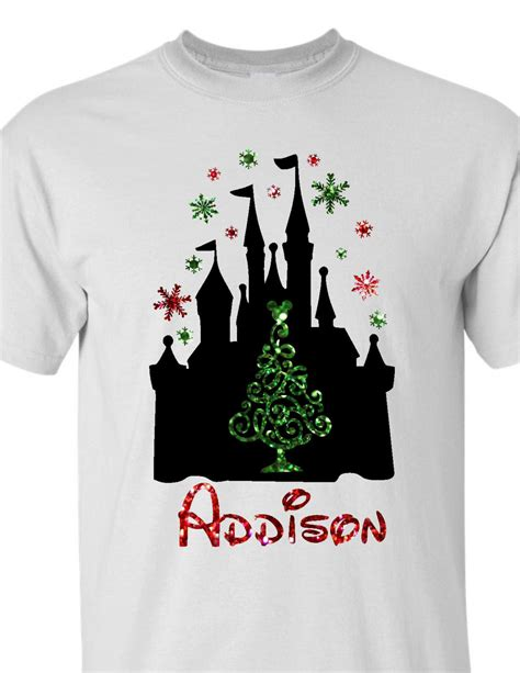 disney christmas shirt personalized