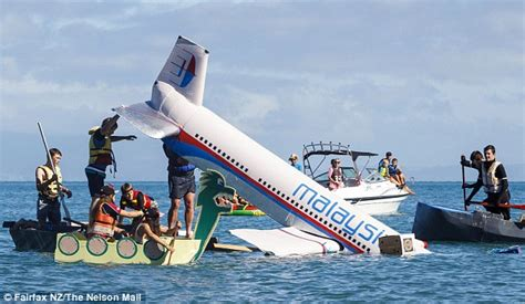 boat crash jokes new zeland man and his sons sink mh370 model to win