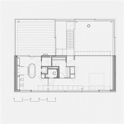 glass wall floor plan modern house with big open views trough glass wall