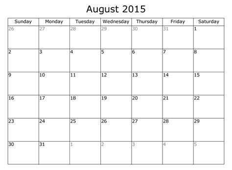 calendar layout august 2015 august 2015 calendar with holidays template download a