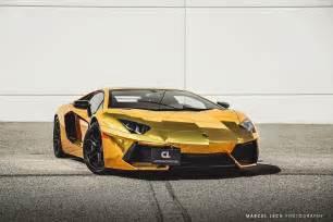 Gold Chrome Lamborghini Chrome Gold Lamborghini Aventador By Marcel Lech