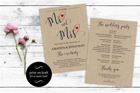 Free Wedding Program Templates Wedding Program Ideas Creative Wedding Program Templates