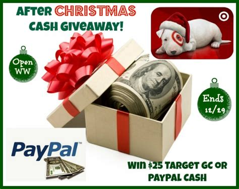 Target Christmas Giveaway - after christmas cash giveaway win 25 target or paypal ww ends 12 29