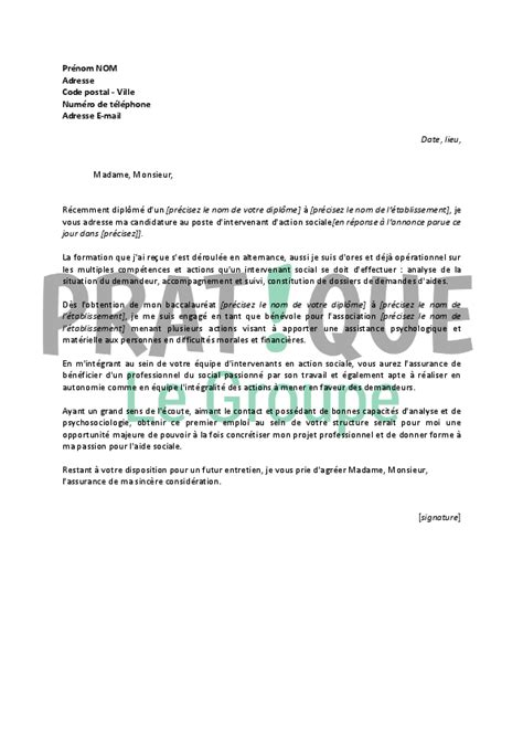 Lettre De Motivation Emploi En Pdf Modele Lettre De Motivation Travail Social Document
