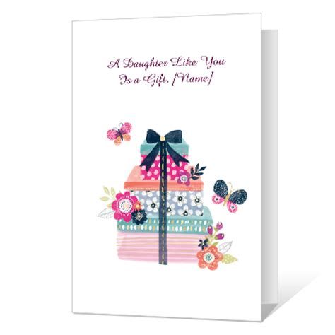 free printable christmas cards daughter a daughter like you greeting card birthday card