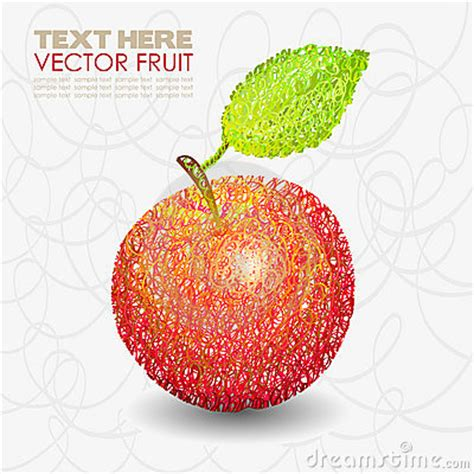 design apple fruit red apple fruit designs with leaf royalty free stock image