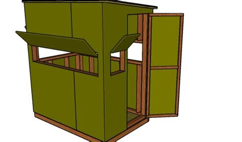 Shooting House Plans by 4x6 Shooting House Plans Howtospecialist How To Build