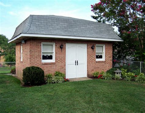 Fine Home Building garden shed with solid mahogany doors amp mansard roof by