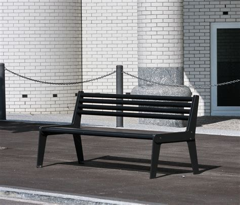 bench city city bench type a with backrest and armrest exterior