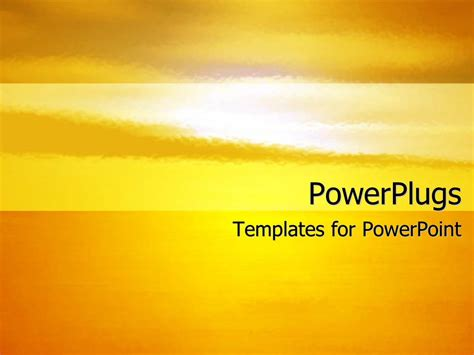 ppt themes sun powerpoint template background depicting the setting of
