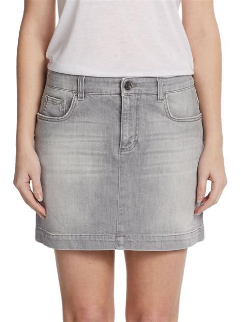 grey denim skirt redskirtz