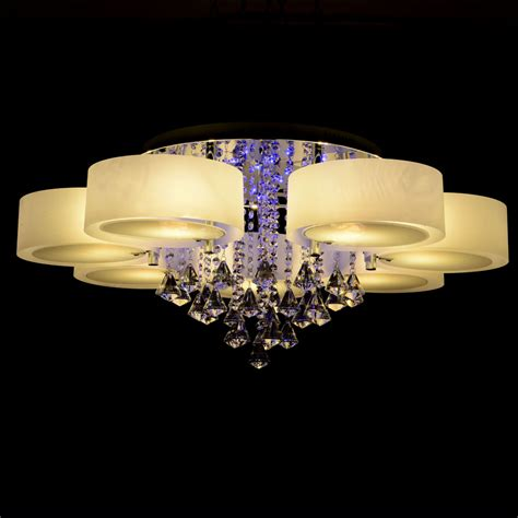 Led Light Chandelier Ecolight Rgb Modern Chandelier With Remote 7 Lights Led Chandeliers Light For