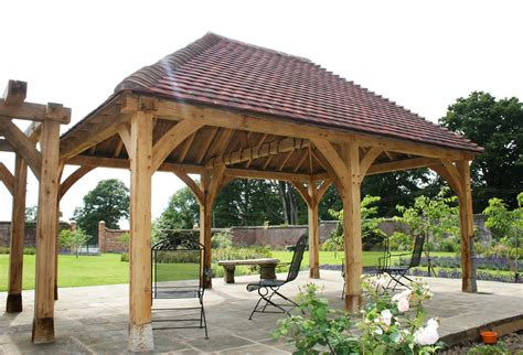 Handmade Gazebos - custom oak framed gazebo pergola
