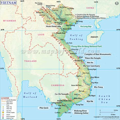 printable maps vietnam vietnam talkingthailand