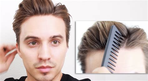 privet parts hairstyles men s hair messy off centered part tutorial youtube