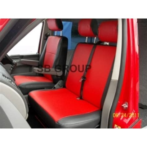 Vw T4 Seat Upholstery by Vw Transporter T4 6 Seater Leatherette Seat Cover