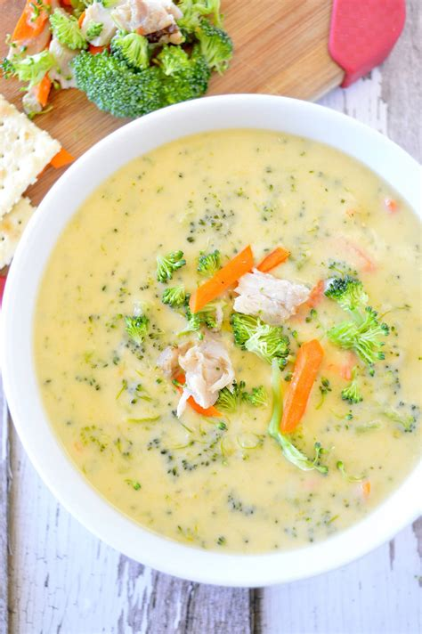 Soups On Broccoli Cheese Soup by Chicken Cheddar Broccoli Soup Is Delicious For Fall