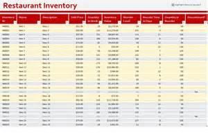 restaurant inventory spreadsheet template restaurant inventory sheet restaurant inventory template