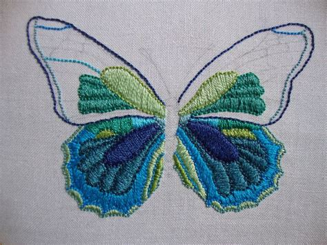 embroidery butterfly 25 best ideas about butterfly embroidery on