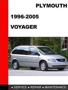 plymouth voyager 1996 2005 service repair manual