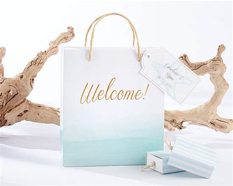 beach themed wedding welcome bags beach tides welcome bags set of 12 starfish blue white