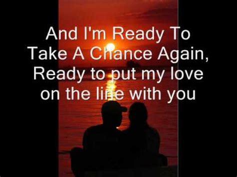 Ready Take ready to take a chance again barry manilow lyrics