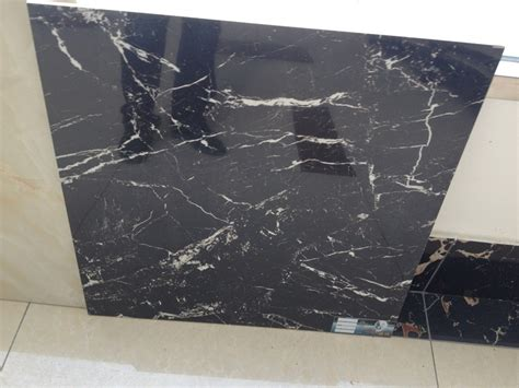 super 24x24 black polished porcelain tile imitation marble tile style floor tile selections