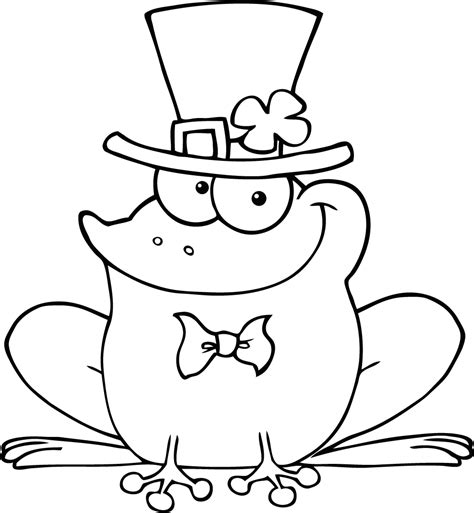 frog coloring page for preschool free printable happy frog picture to colour for preschool