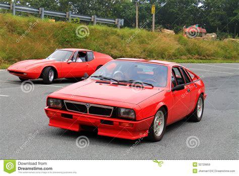 Lancia Sports Car Two Classic Italian Sports Cars Editorial Stock