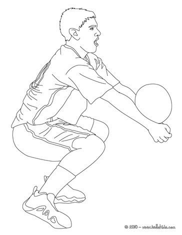 coloring pages of volleyball players volleyball player setting the ball coloring pages