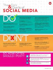 Social media do s and don ts infographic