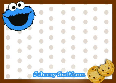 printable monster notecards cookie monster thank you notes sesame street thank by