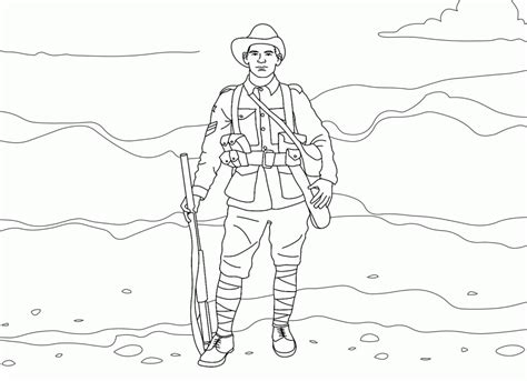 army coloring pages pdf soldier with a weapon coloring pages picture 23 military