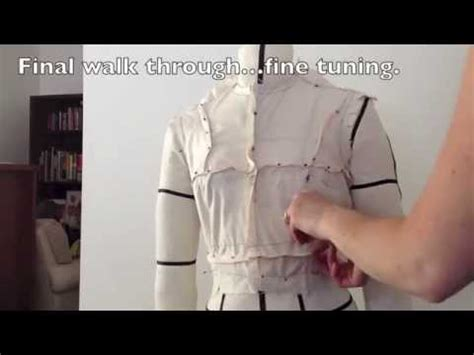 youtube pattern fitting commercial pattern alteration fitting front bodice