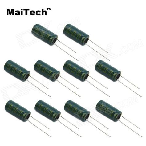 green capacitors maitech 6 3v 3300uf electrolytic capacitors green 10 pcs free shipping dealextreme