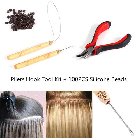 silicone hair extension brown 100 silicone micro rings loop hair extensions