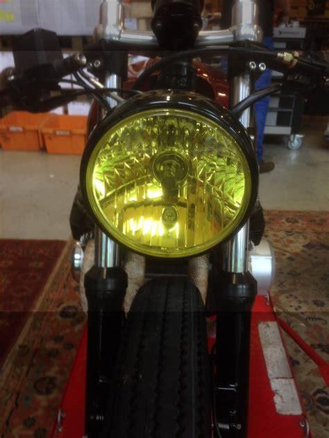 Motorrad Scheinwerfer Gelb scheinwerfer folie gelb caferacerwebshop de