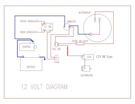 wiring diagram for key start 12 volt alternator