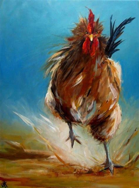 cari art chicken painting run chicken run paper print of an
