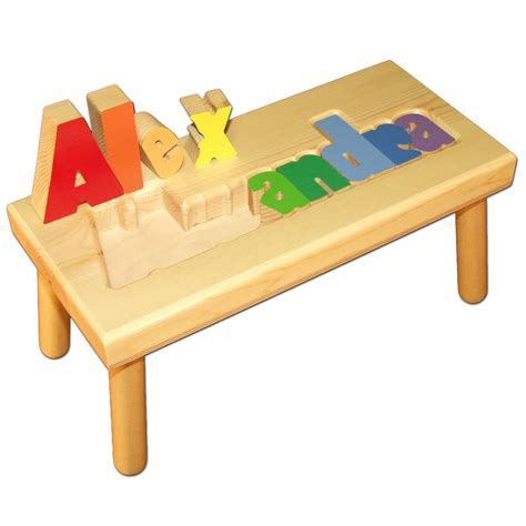 Personalized Puzzle Stool by Personalized Name Puzzle Stool With Primary