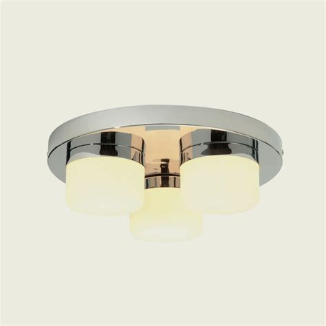 Endon 34200 Pure Triple Chrome Finish Bathroom Flush Bathroom Light Fittings