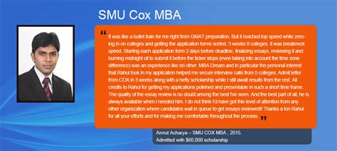Smu Cox Mba Essays by Mba Admission Consultants Business School Application