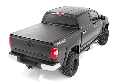 toyota bed cover soft tri fold bed cover for 2014 2017 toyota tundra rough country suspension systems 174