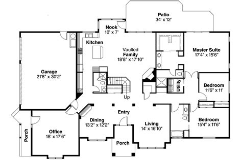 1 floor house plans contemporary house plans ainsley 10 008 associated designs