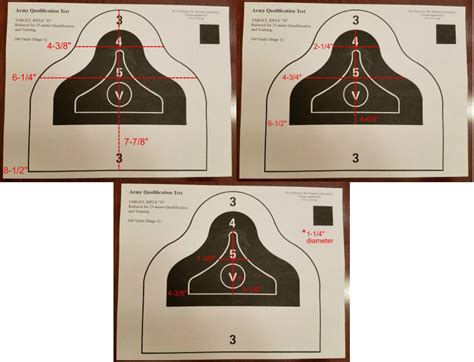 printable aqt targets aqt d and red dawn targets
