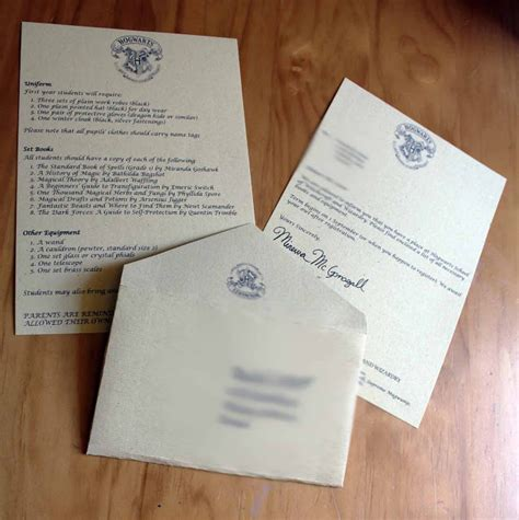 Offer Letter Hp The Roots Of Design Harry Potter
