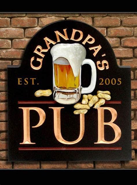 grandpas pub sign danthonia designs usa