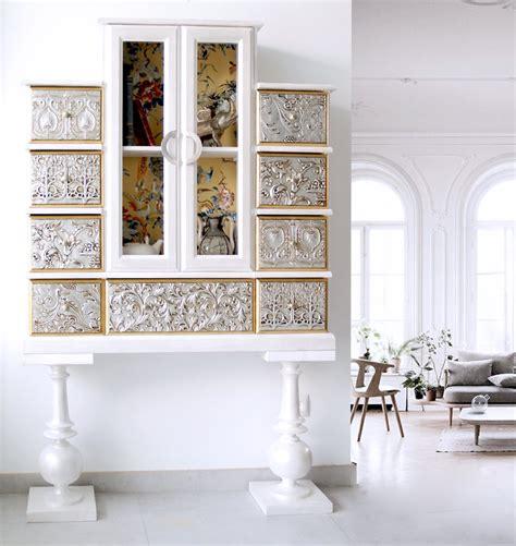 snafab com muebles auxiliares para muebles de entrada blancos